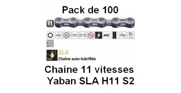 PACK 100 Chaines 11 vitesses Yaban SLA H11 S2