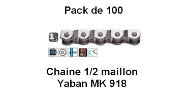 """Pack 100 Chaines Yaban 1/2 Maillon 1/2"""" x 1/8"""" MK 918"""