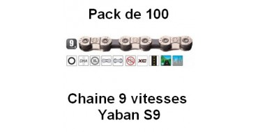 Pack 100 Chaines 9 vitesses Yaban S9