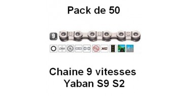 Pack 50 Chaines 9 vitesses Yaban S9 S2