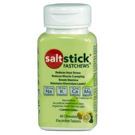 SALTSTICK Fastchews gums citron - Boite de 60 gums electrolyte à mâcher