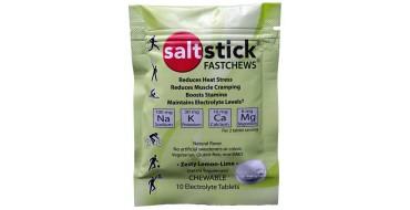 Pastilles electrolyte à croquer SALTSTICK Fastchew - saveur citron - 10 pastilles