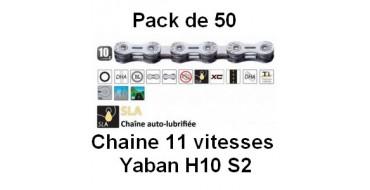 Pack 50 Chaines 10 vitesses Yaban SLA H10 S2