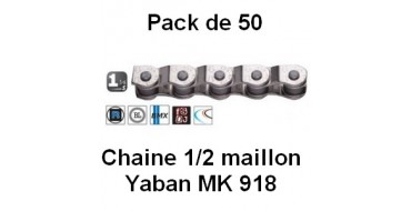 """Pack 50 Chaines Yaban 1/2 Maillon 1/2"""" x 1/8"""" MK 918"""