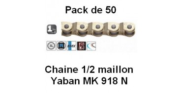 "Pack 50 Chaines Yaban 1/2 Maillon MK 918 N 1/2"" x 3/32"""