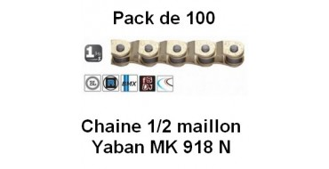 "Pack 100 Chaines Yaban 1/2 Maillon MK 918 N 1/2"" x 3/32"""