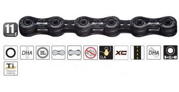 Chaine 11 vitesses YABAN SLA 110 Ti Black